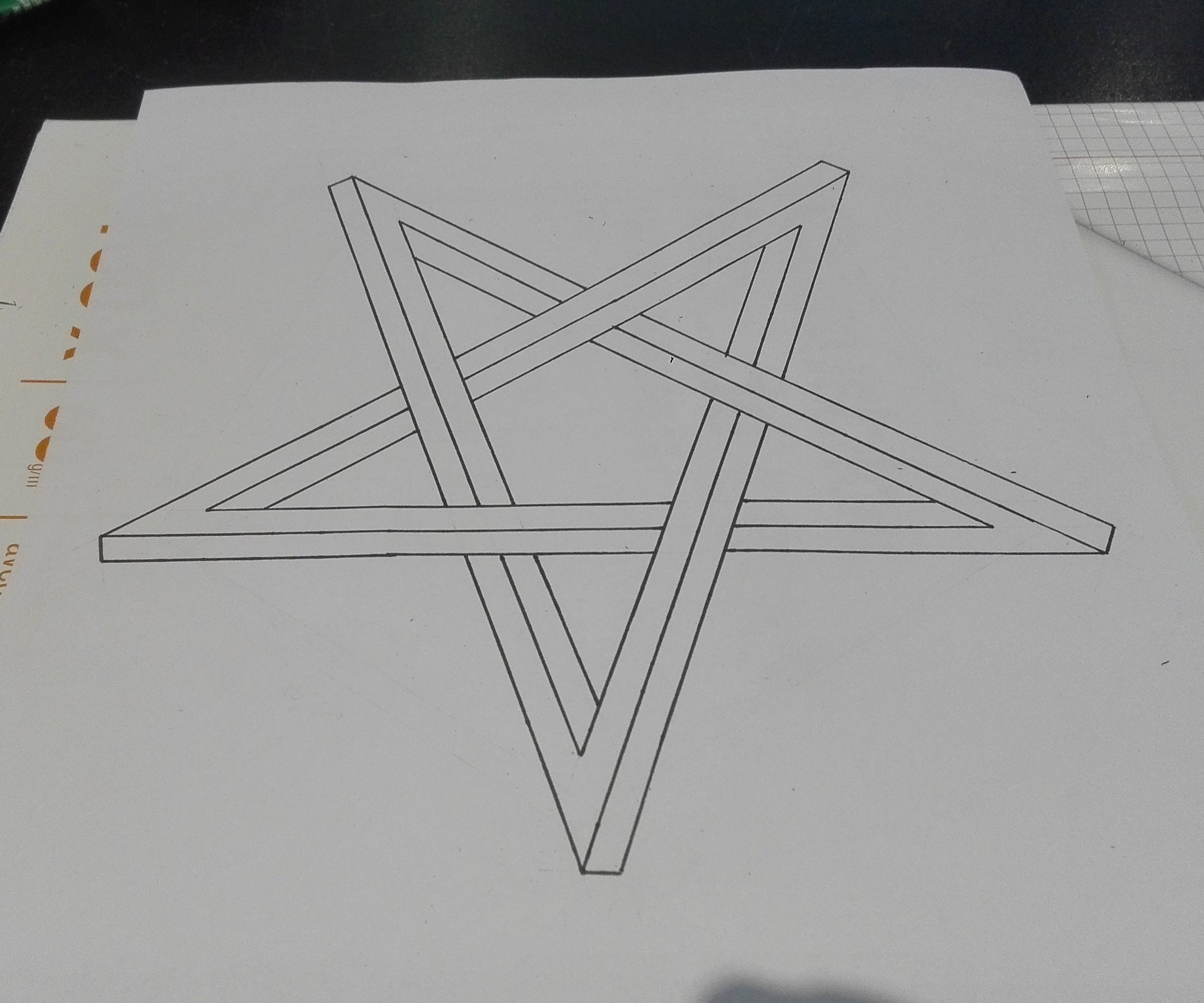 The Impossible Pentagram (optical Illusion) : 3 Steps