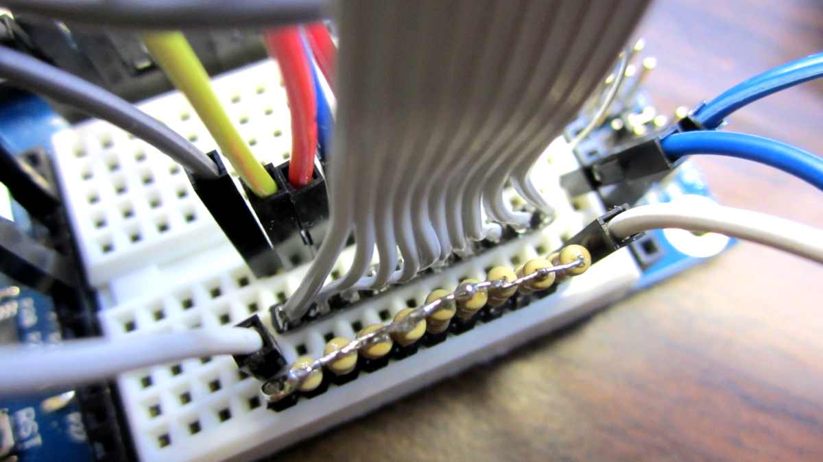 Picture of Connect the LED Reader Portions on the Breadboard