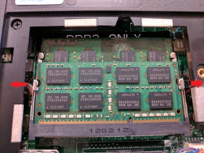 Remove Guards Holding the RAM in Place