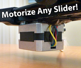 Make an Arduino controlled Motorized Camera Slider!