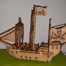 Pirate Ship for Laser Cutter