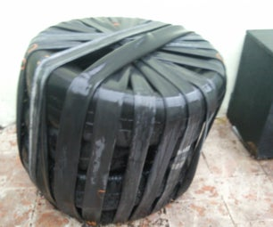 Recycled Car Tire and Bike Inner Tube Chair
