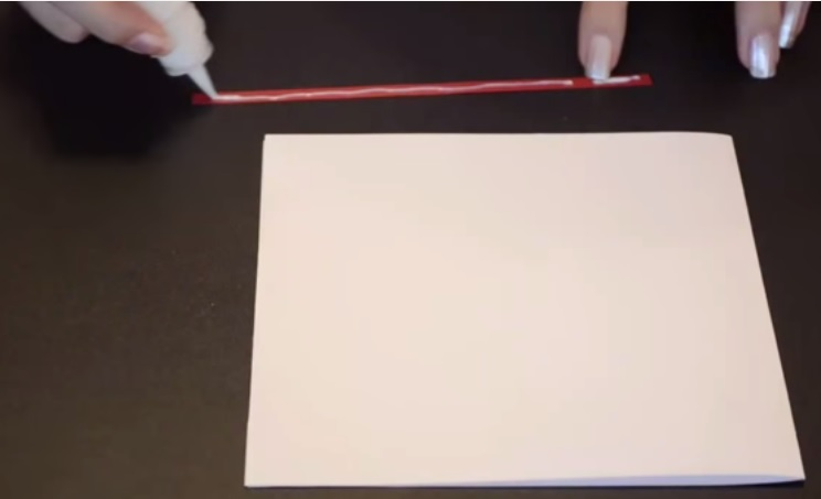 Picture of Glue the Flowers on the Cardboard