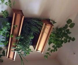 Indoor herb garden shelf