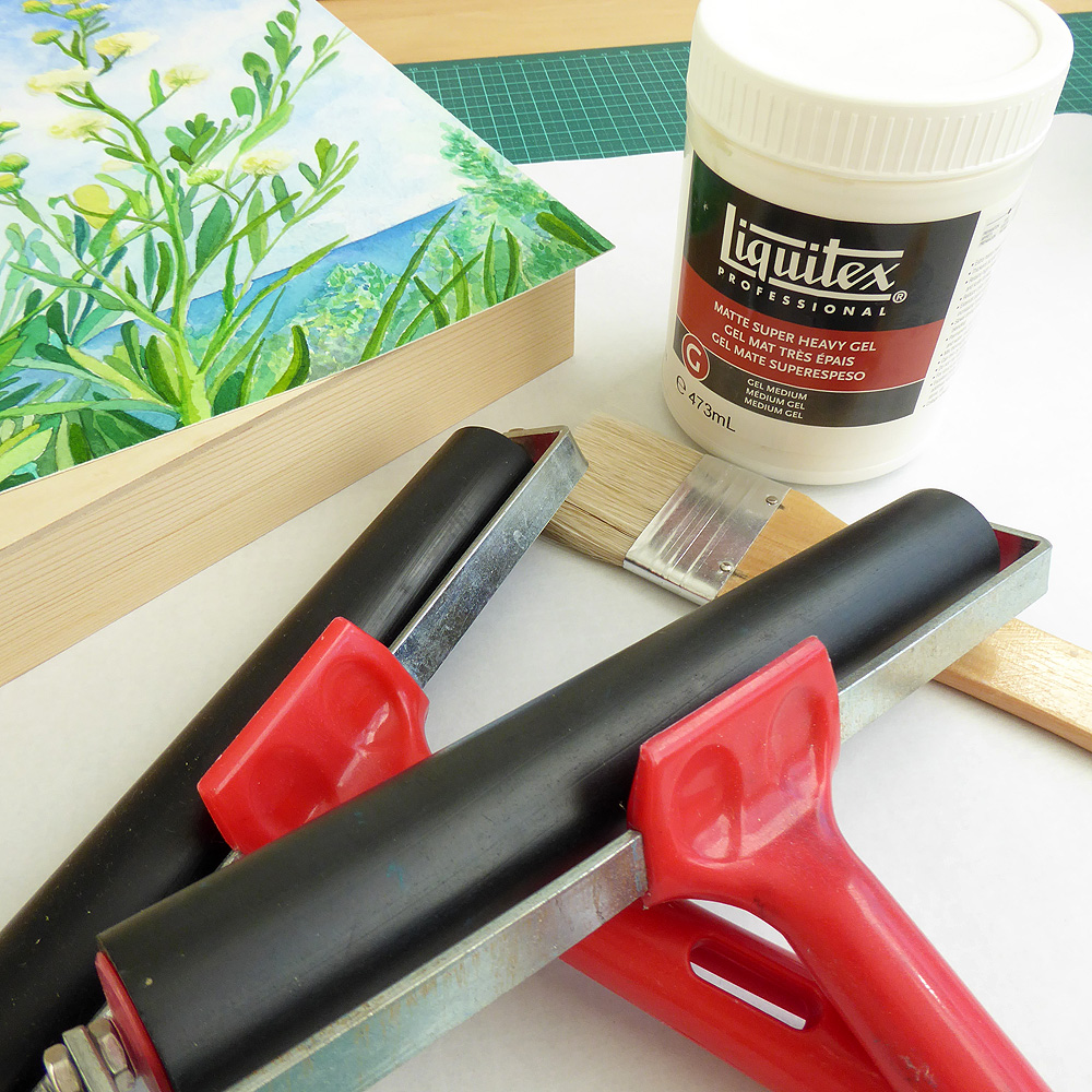 Picture of Apply Gel Medium (glue) to Your Painting