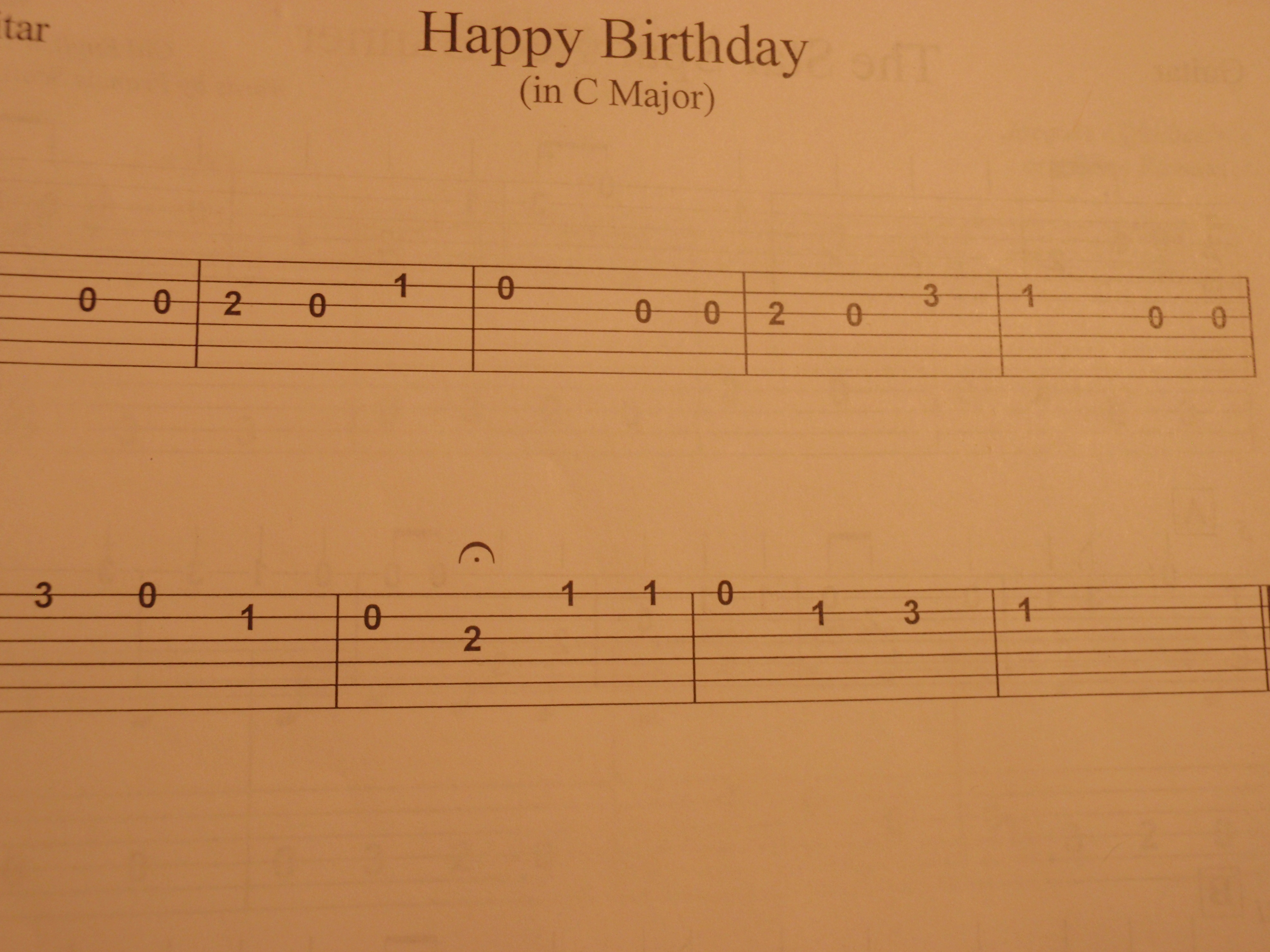 Picture of Happy Birthday on Guitar (VIDEO)