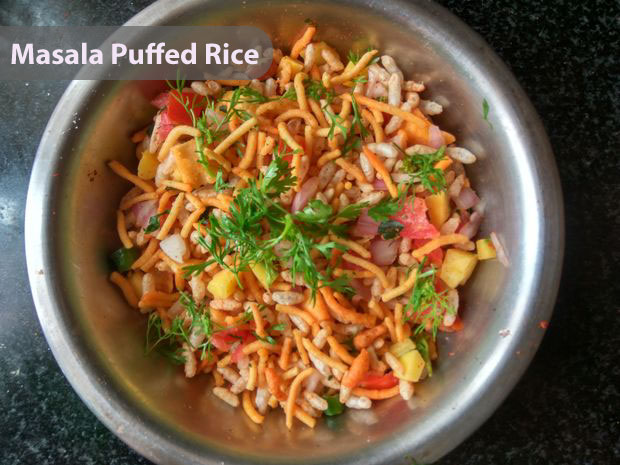 Picture of Masala Puffed Rice - Who's Hungry
