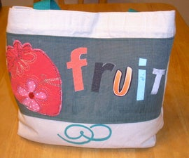 Upcycled Canvas Grocery Bag