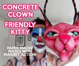 Concrete Clown Vs. Friendly Kitty