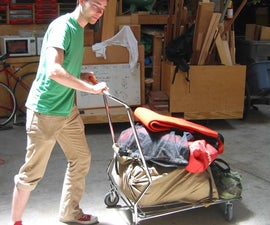 Railroad Train Smashes Shopping Cart Creating a Sweet Lowboy Dolly
