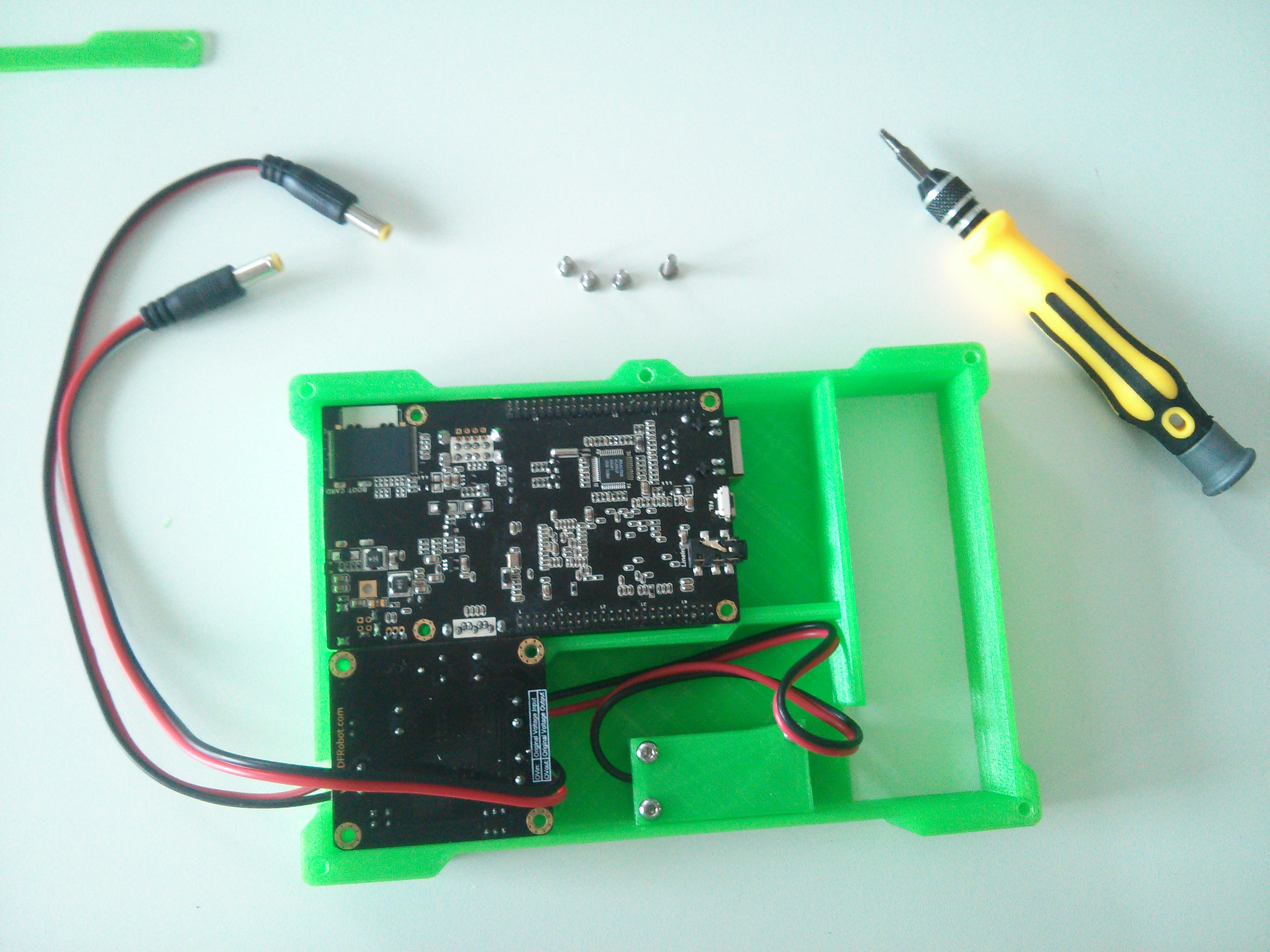 Picture of The Second Layer, Cubieboard and Power