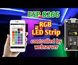 ESP 8266 Nodemcu RGB LED Strip Controlled by a Webserver Remote