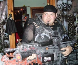 Halloween Cardboard Costumes and weapons Gears of war style