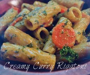 Creamy Curry Rigatoni (16 Minute Pasta)