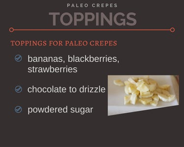 Ingredients for Paleo - Gluten & Dairy Free Crepes