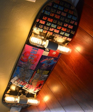 Upcycled Skateboard Lamp From a Used Deck