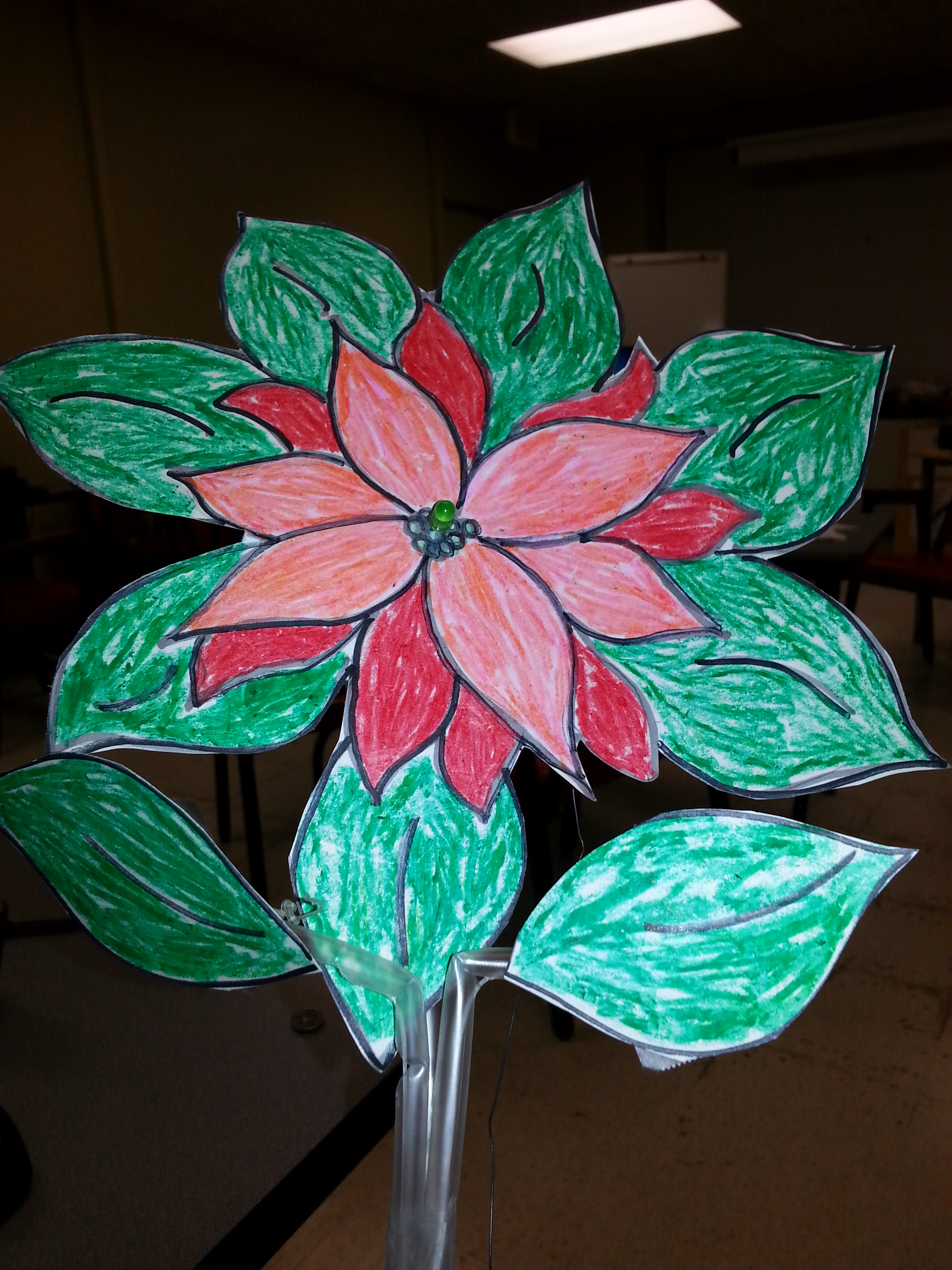 Picture of Poinsettia Circuit Puppet