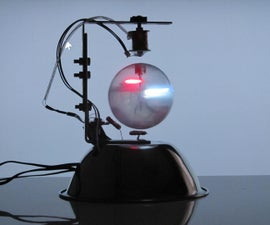 A Levitating Sphere Rotates Glows and Blinks with Arduino