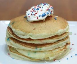Cake Mix Pancakes (Funfetti Pancakes)