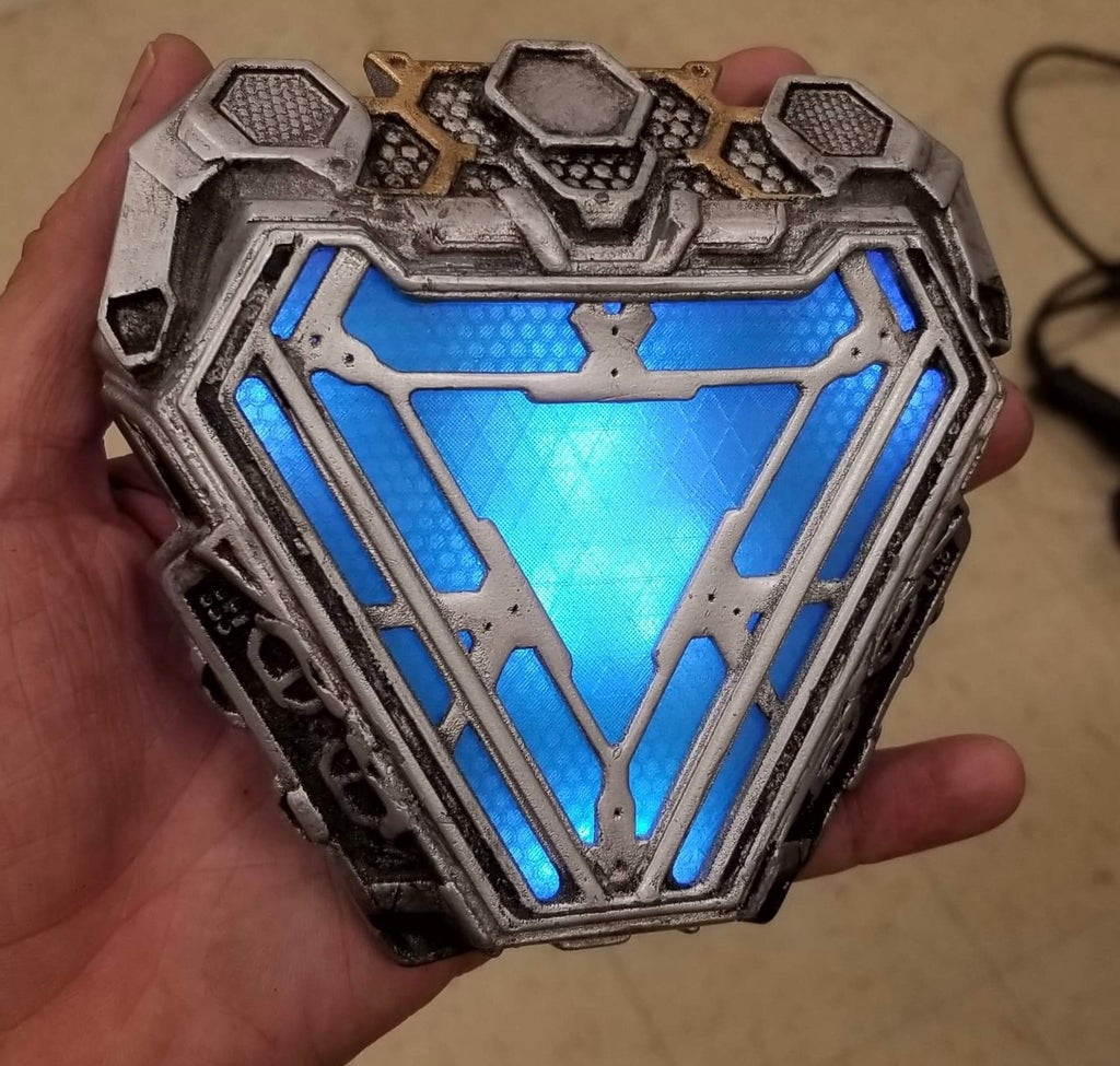 3d Printed Endgame Arc Reactor (Movie Accurate and Wearable): 7