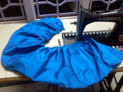 Stitch Skirt and Attach It to Bodice