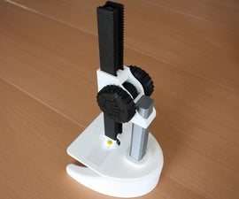3D Printable Microscope for Home or Lab