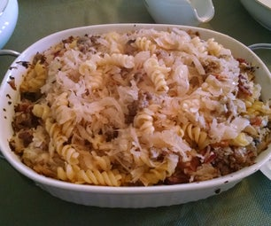 Bacon, Sauerkraut, and Pasta Bake