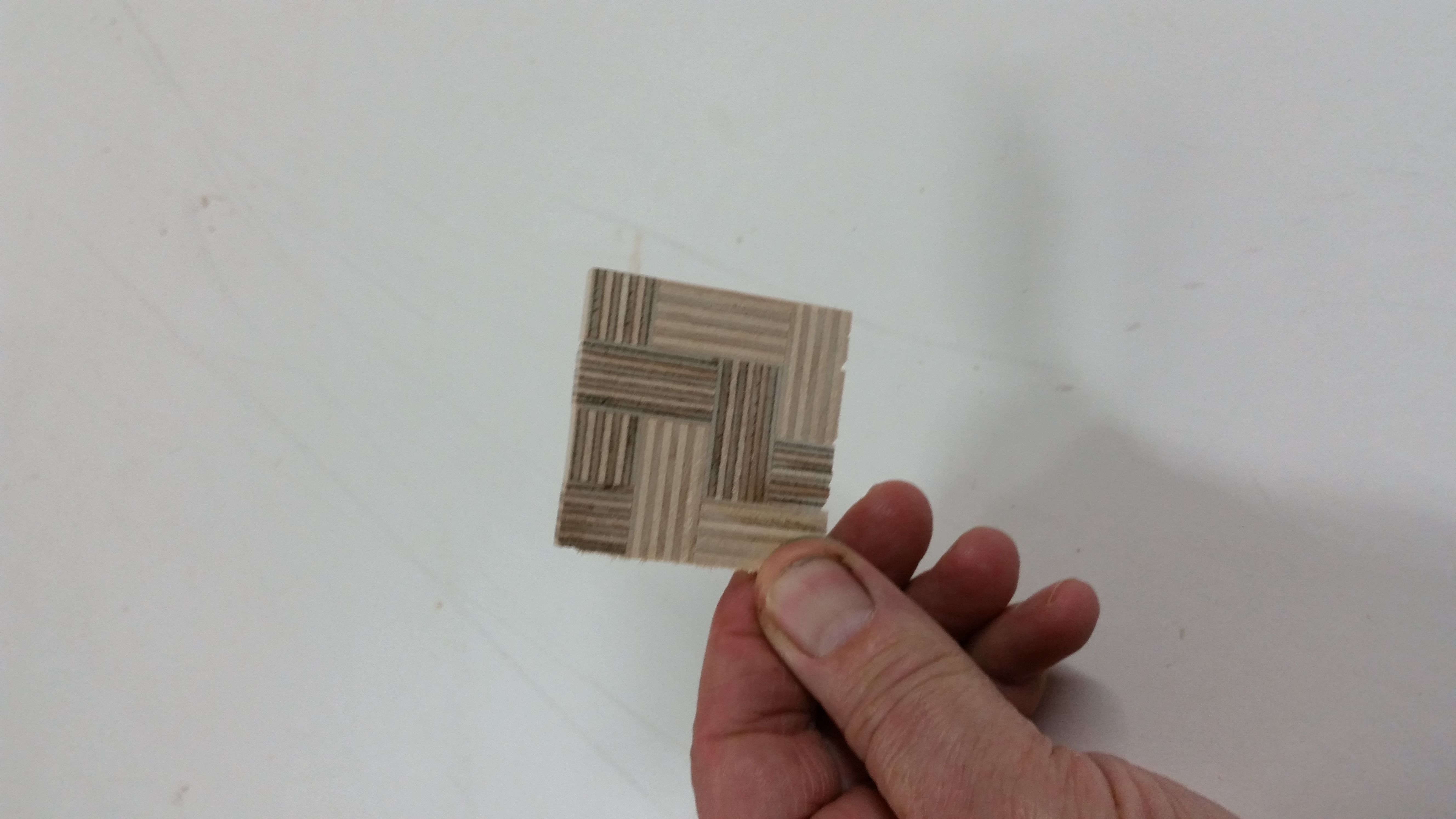 Picture of Cut Slices Off of the Patterned Block