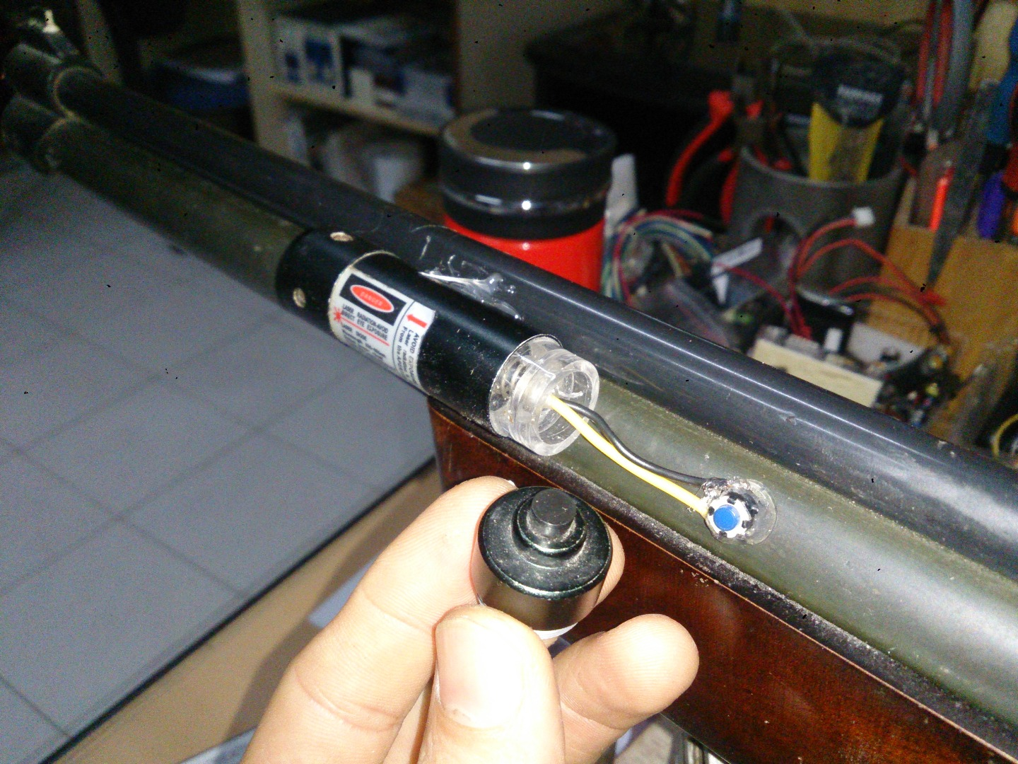 Picture of Replacing Rifle Laser Button With Momentary Switch