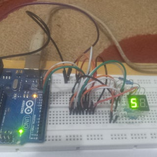 Arduino Powered 7 Seg LED Display Using Shift Registers - I Made It at TechShop