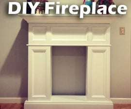 DIY Faux Fireplace with Hidden Storage