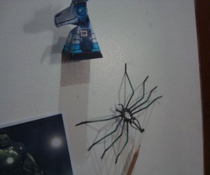 Spider Made From Cable Ties  for Props Decor Halloween