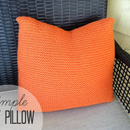 Simple Knit Pillow