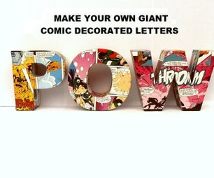 Giant Card Letters - Comic Decorated