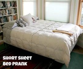 Short Sheet Bed Prank