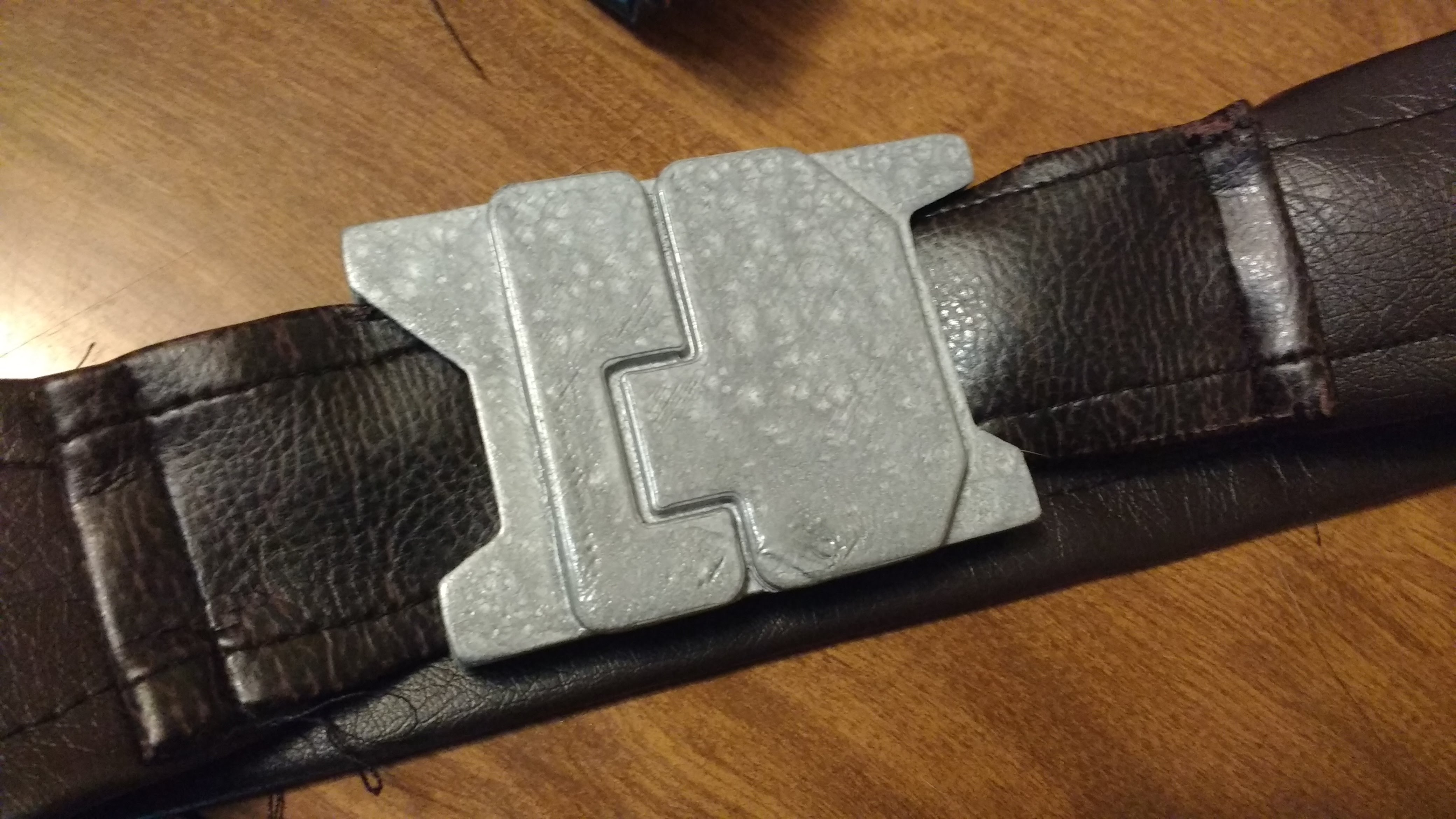 Picture of Velcro the Belt Buckle to the Belt
