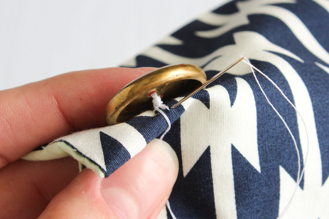 Sewing on a Button + Class Conclusion