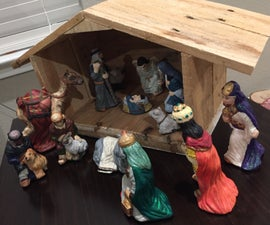 Pallet Nativity Stable