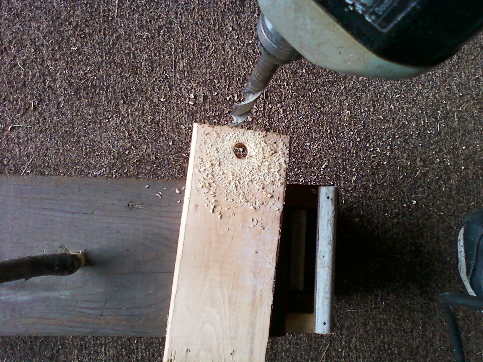 Picture of Drill Holes and Prep the Sticks