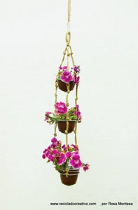 Mini Hanging Garden With Recycled Coffee Pods