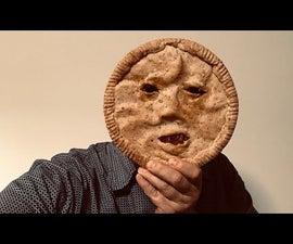 Scary Pie Face - Delicious Cinnamon-Pear Pie
