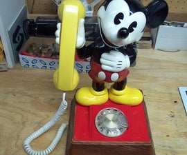 Mickey Mouse Rotary Dial Cell Phone