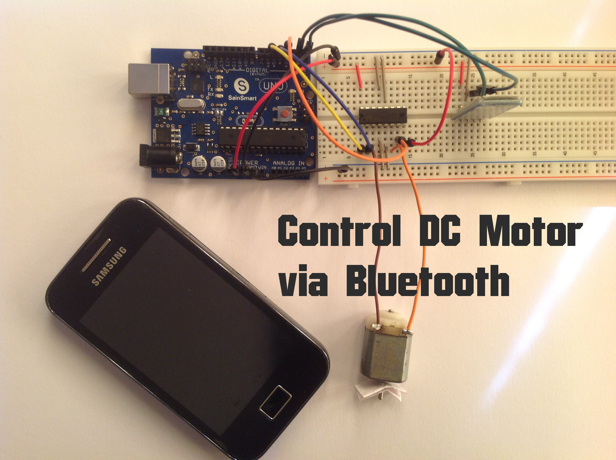 Arduino - Control DC Motor Via Bluetooth: 4 Steps (with Pictures)