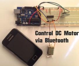 Arduino - Control DC Motor via Bluetooth