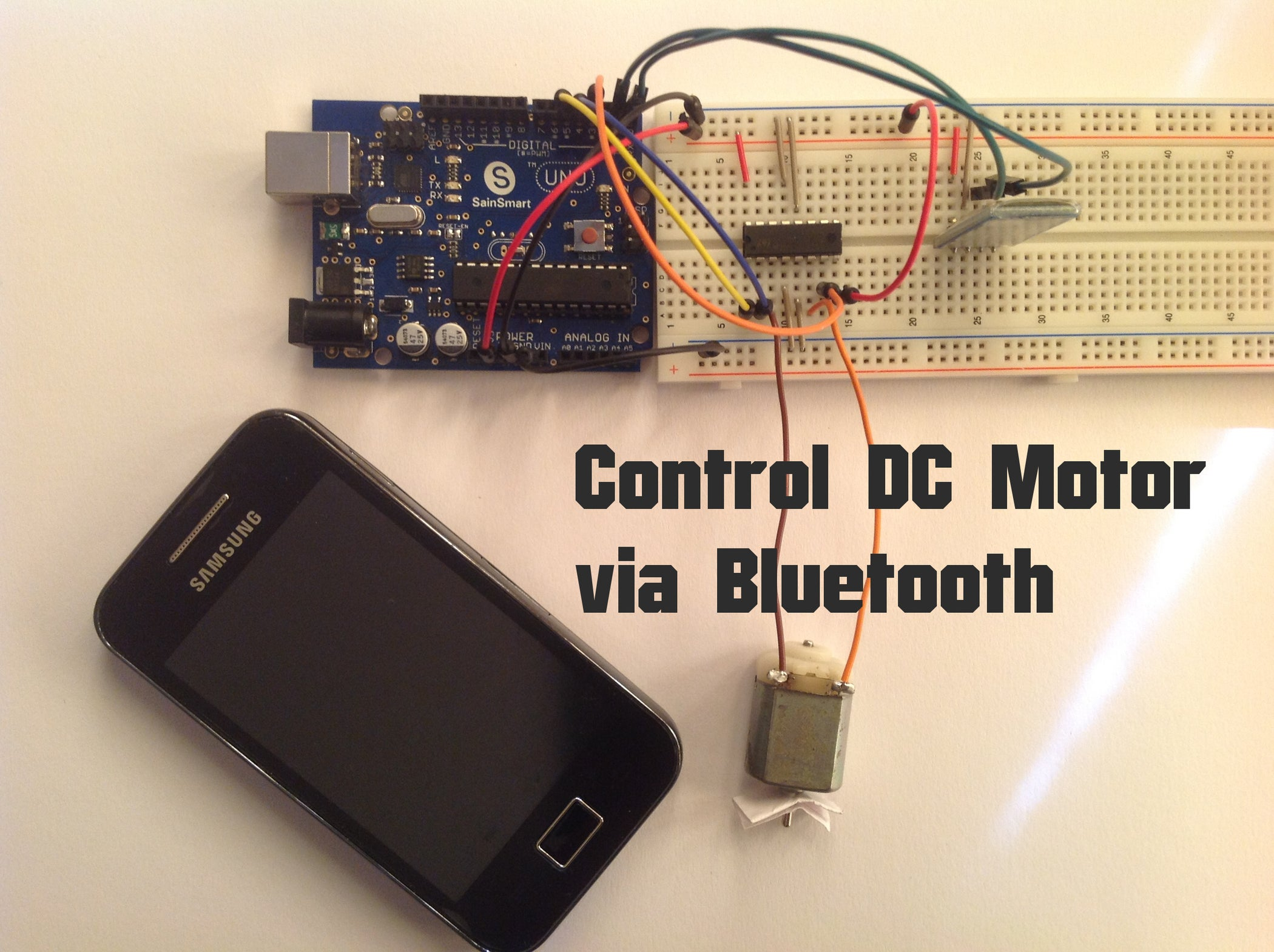 Arduino Control Dc Motor Via Bluetooth 4 Steps With Pictures Simple Electric Diagram Download Electrical Images Free