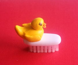 Tiny Sugru Rubber Ducky Travel Nail Brush
