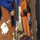 Cardboard/duct tape sniper rifle