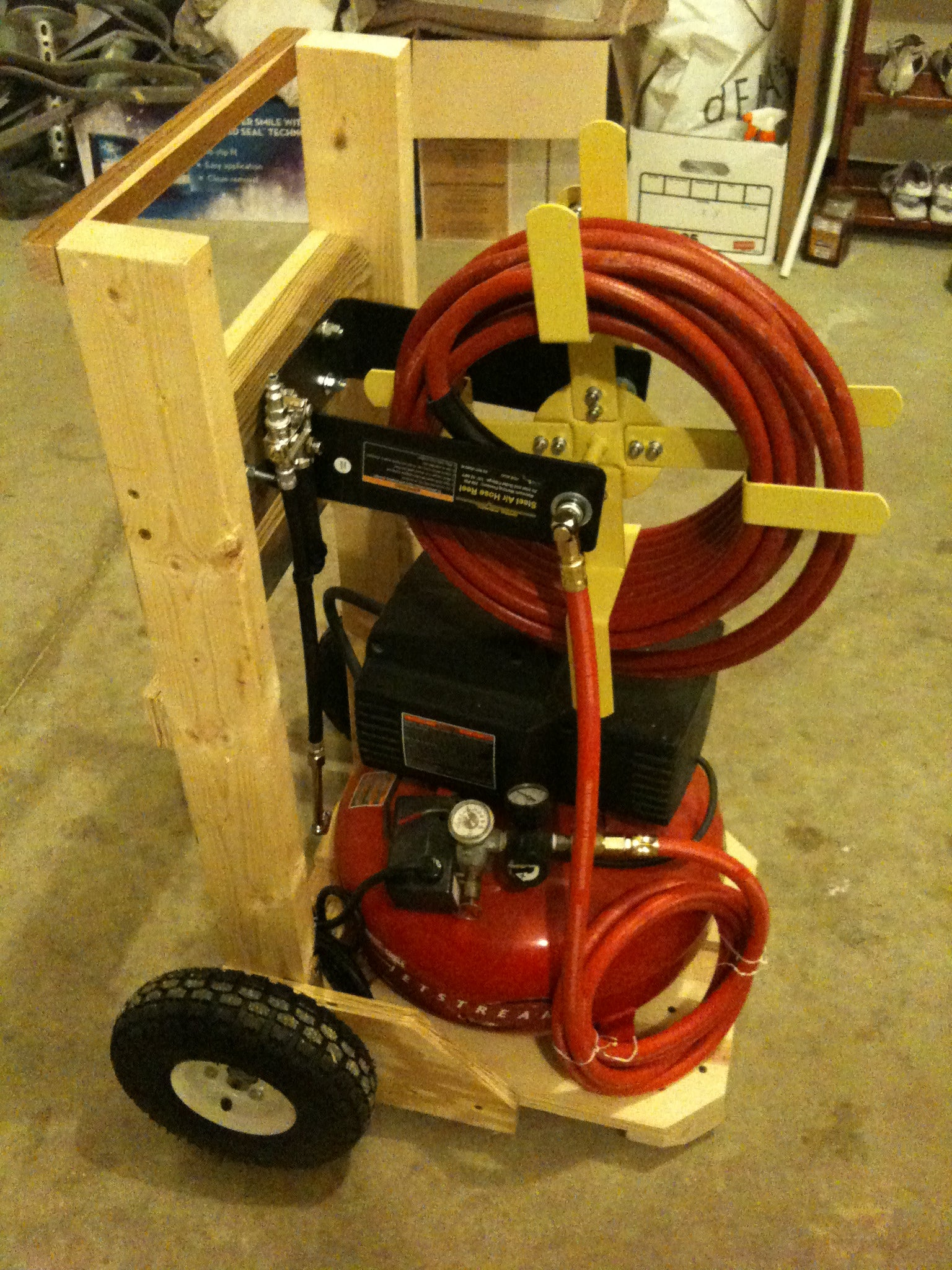 Air Compressor Cart 4 Steps With Pictures