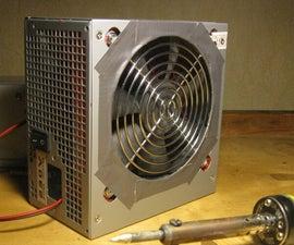 Soldering fume ventilator from PSU