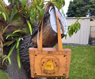 No-Sew Leather Tote Bag With Interchangeable Art Panels